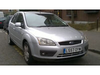 FORD FOCUS 1.8 STYLE 16V 125 2007 57 REG MET SILVER 5 DOOR HATCH 5 SPEED MANUAL PAS A/C HIGH MILES!