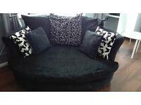 black dfs sofas