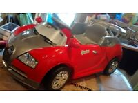 New and unused 6 volt electric ride on Bugatti Veyron sports