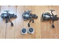 3 x Shimano 10000 xte reels & spools carp fishing