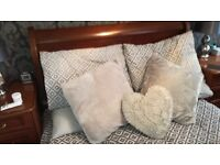 Double Solid Sleigh bed with Schreiber Solid matching 4 piece bedroom furniture