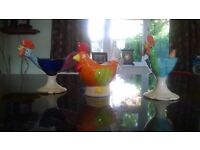 Hand painted hen egg cups
