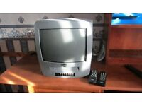 Philips portable TV and integrated VHS player