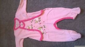baby sleepsuit and top , height 62 cm
