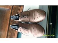 Beige Colour New Buck Leather Shoe Size U.K.7.5