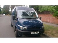 2001 FORD TRANSIT MWB. HIGH ROOF. MOT JUNE 2017. LOW MILEAGE OF 123.000 FOR YEAR.