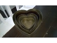 Vintage Heart Shaped 5 Teir Cake Tins for Catering / Wedding Cake / Bakery