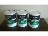 i have 3 tins of crown trade matt vinyl emulsion 5l for sale