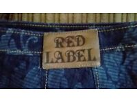 vivienne westwood red label denim skirt