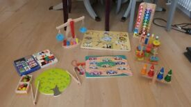 Wooden Toy Bundle - 9 items, Melissa and Doug x 2, Galt x 2 + 5 others in GC