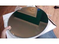 9 x 30 cm mirror plates, wedding decoration