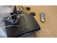 SKY BOX WITH REMOTE ETC.AND ROUTER