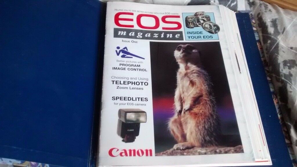 Vintage Canon EOS Magazine 12 issues early 1990s in hard folder