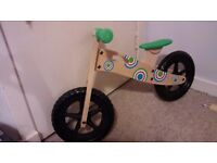 My First Push Along Kids, Toddlers Balance Bike - Traditional Wood - unused in decent condition