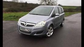Vauxhall zafira 1.6 petrol facelift full service history