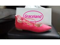 Peach flat sandals from Graceland size 40