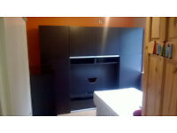 IKEA T.V. storage combination unit with drawers and sliding doors