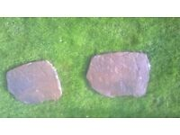 Borderstone stepping stones 550mm x 440mm textured stone