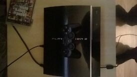 ps3 with 9 games all leads 1 controller perfect condition