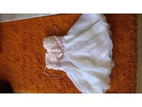 Size 10 cream dress, ideal for prom or wedding. By Nazz UK