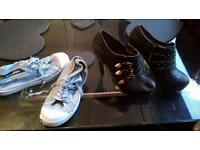 Ladies shoes and superdry trainers