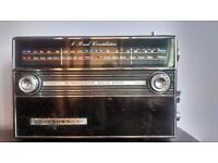 Black Vintage Retro radio 16 transistor trf 2200l 70th full working order £30