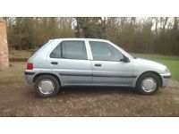 Peugeot 106 diesel. Low mileage, 12 month's MOT