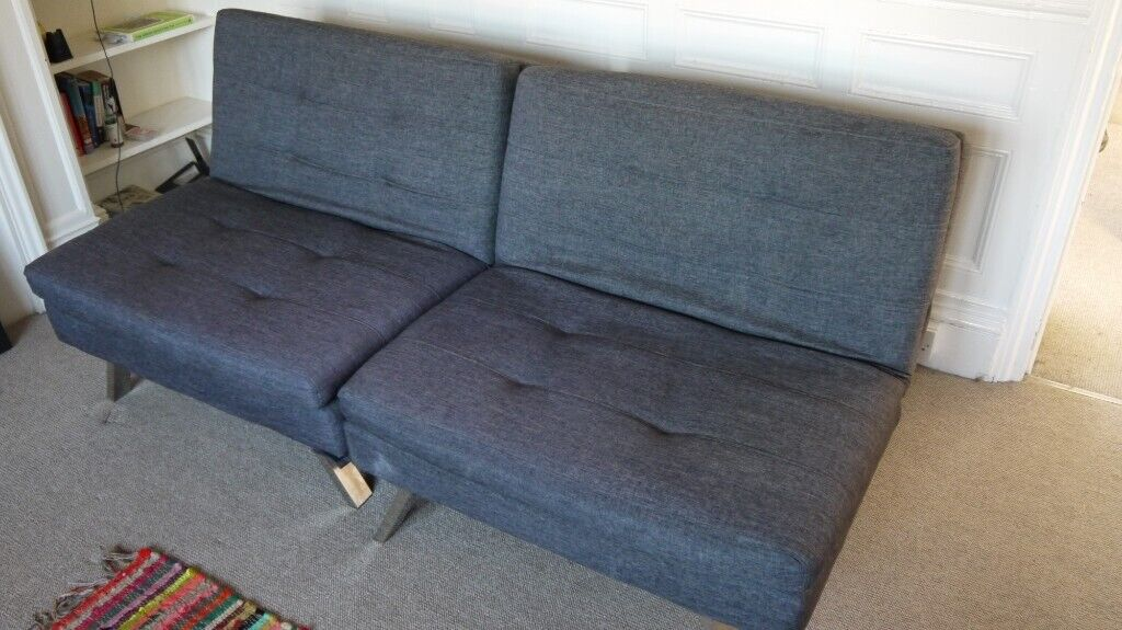 Excellent Argos Home Duo 2 Seater Clic Clac Sofa Bed Charcoal In Hove East Sussex Gumtree Machost Co Dining Chair Design Ideas Machostcouk
