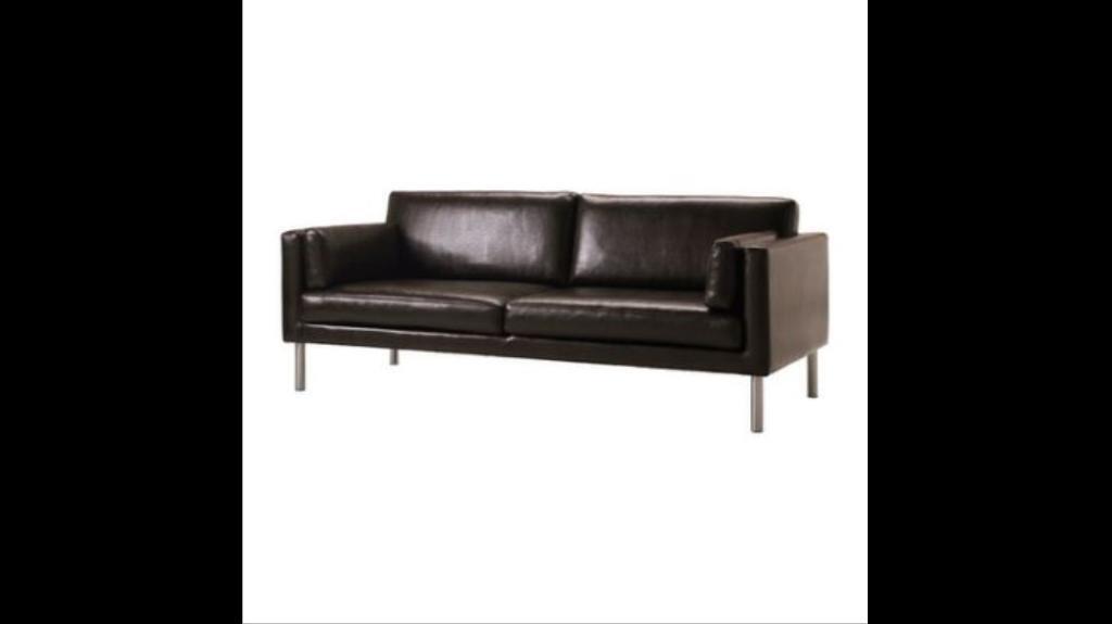 Ikea Sater 2 5 Seater Split Leather Sofa