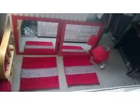 red mirrors lamp cushion covers