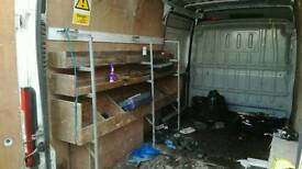 Heavy duty Shelving frame for Van