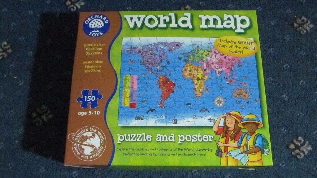 Orchard world map puzzle in duddingston edinburgh gumtree orchard world map puzzle gumiabroncs Choice Image