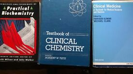 Clinical Medicine, Clinical Chemistry and Biochemstry books. £5 each