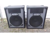 Pair of AmpTech 12inch Speaker Cabs,