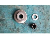 YAMAHA RD350LC RD 350 LC SPROCKET SIDE REAR WHEEL SPACER, NUT & WASHER - PARTS SPARES