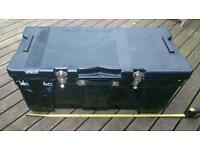 Black plastic storage trunk. Absolute bargain price.