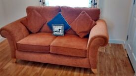 2 Seater Sofa with tapered solid wooden legs