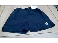 mans Moncler Shorts.navy,or black. Large.lovely for Gym or swimming.back pocket, and side pockets.
