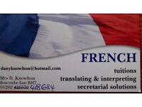 French tuitions, translating & interpreting