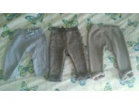 Bluezoo and next joggers and trousers 6-9 months
