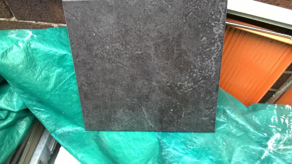 floor tiles black slate effect 33cm x 33cm homebase cuba 17sq