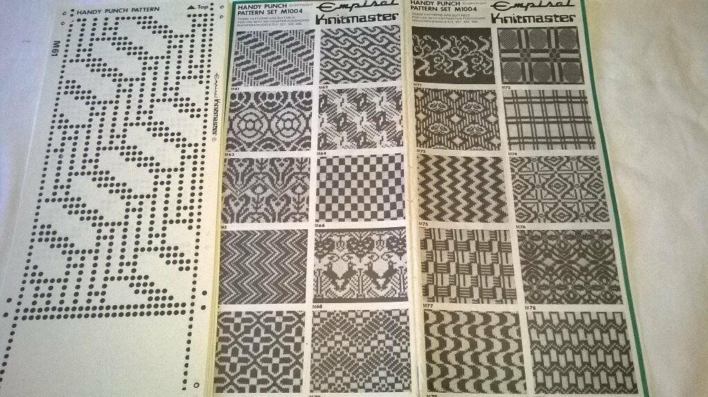 Machine Knitting Punch Card Pattern Templates In Camelford