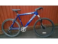 Cross Mountain Bike.... Front Disc....Town Tyres...Front suspension.. Ideal commute.. £55