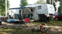 28.5' Fifth Wheel on Baskatong, 2001 Prowler