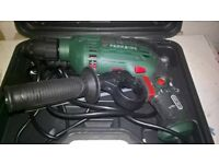 Hammer Drill (Parkside) VGC with attachment in carry case