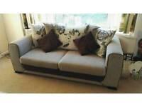 Cream Sofa & Swivel Chair