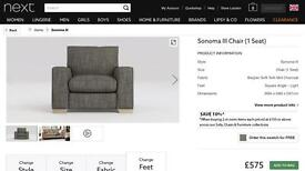 Sonoma III in Belgium Twill Mid Charcoal Chair