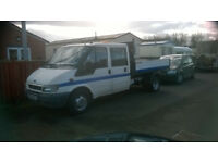 FORD TRANSIT 90 T350 CREW CAB TIPPER PICK-UP