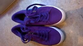 GIRLS PUMA SUEDE TRAINERS