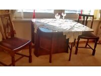 Dining table and up to 4 chairs